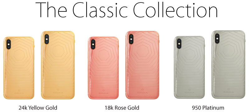 Lux Iphone X By Brikk In 24k Yellow Gold 18k Rose Gold Or 950